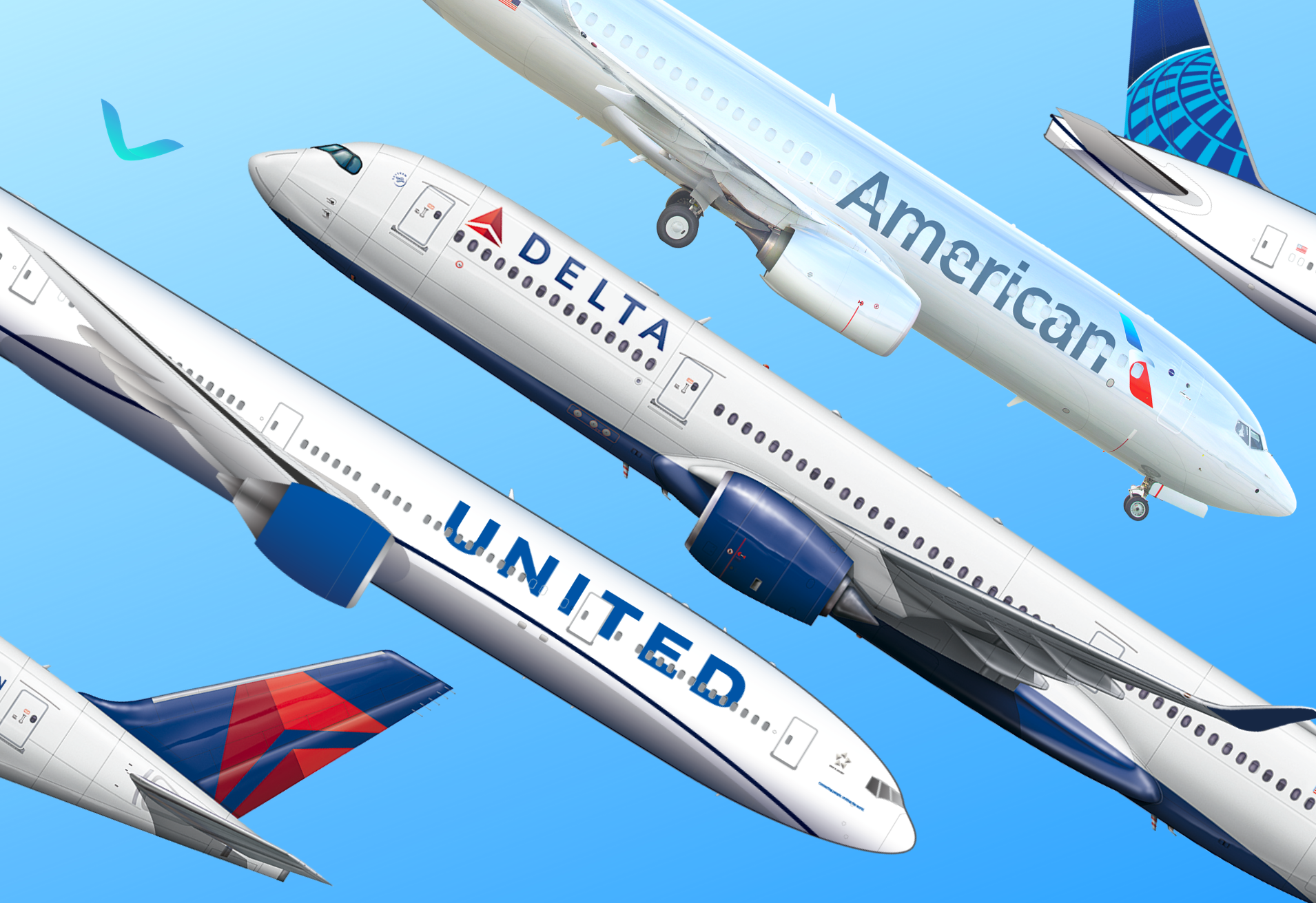 US 3 Major Airlines